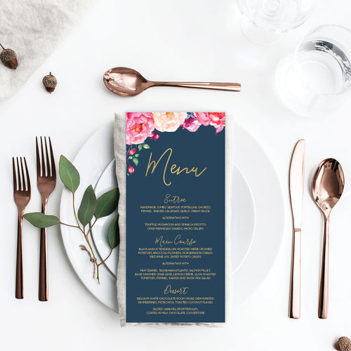 In Bloom (Navy) Menu