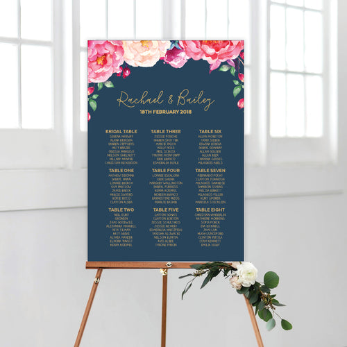 In Bloom (Navy) Seating Chart