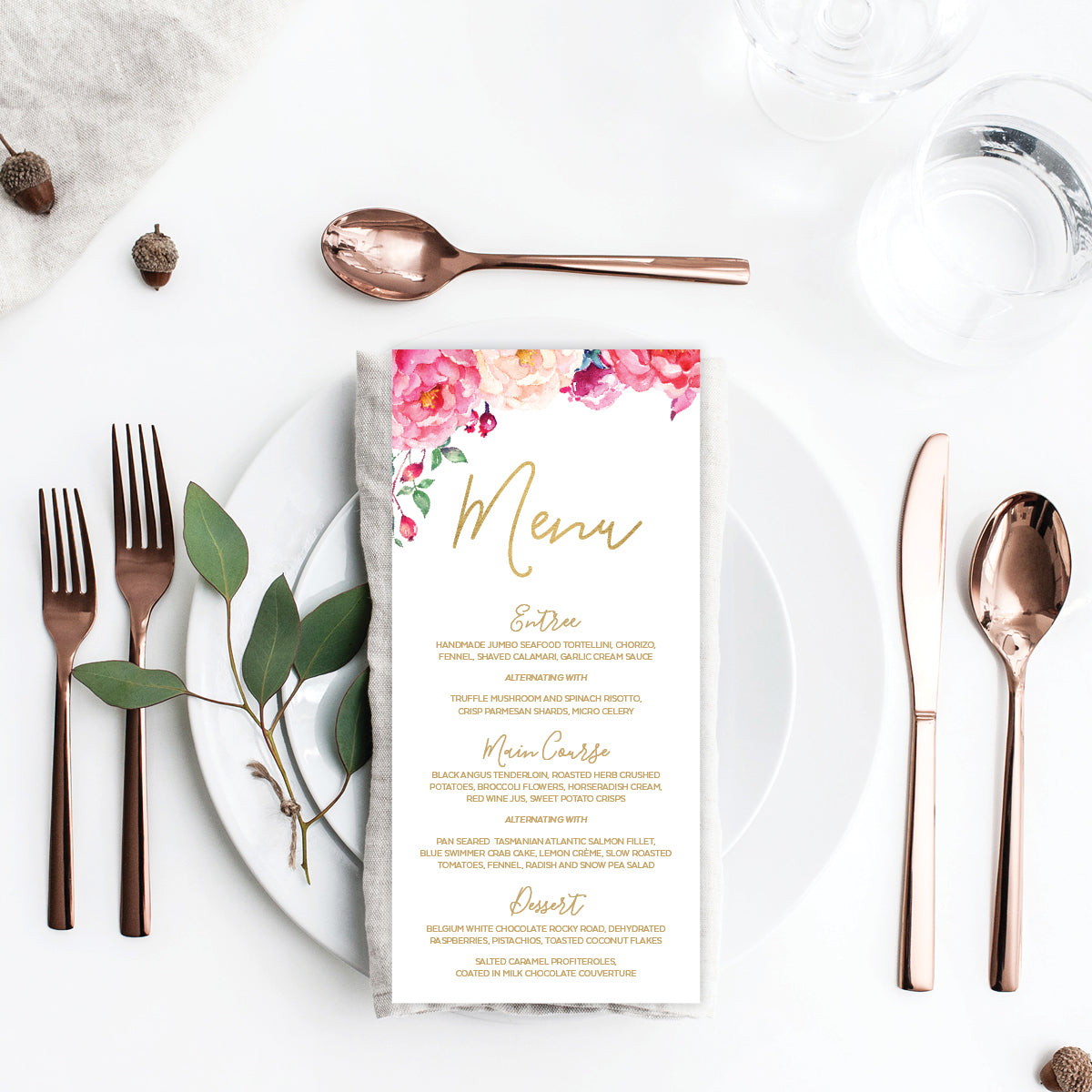 In Bloom (White) Menu