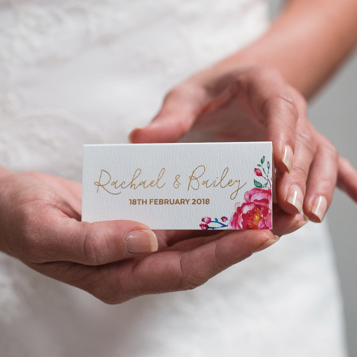 In Bloom (White) Placecard
