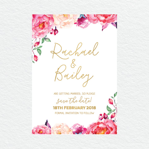 Modern Marble Save the Date Card
