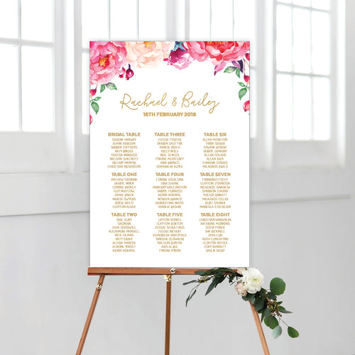 In Bloom (White) Seating Chart