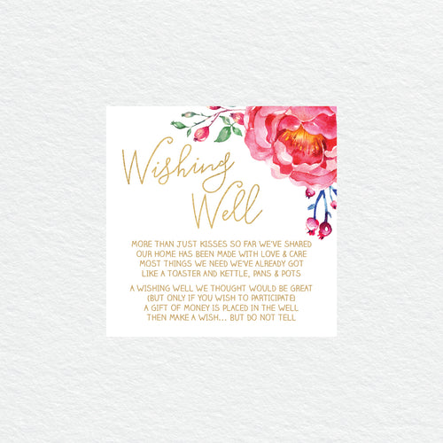 In Bloom (White) Wishing Well Card