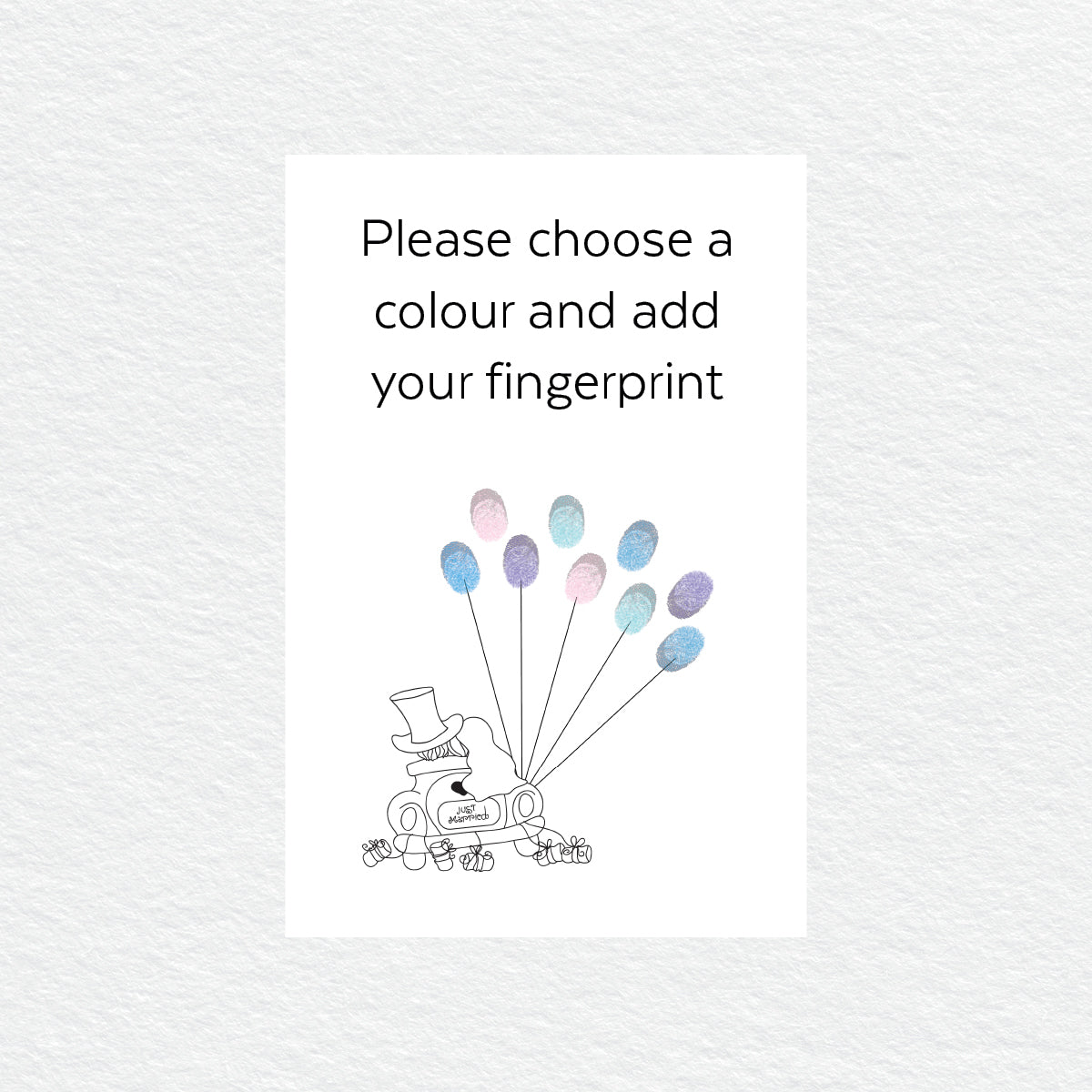 Just Married Balloon Fingerprint Kit