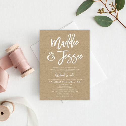 Kraft Party Rectangle Invitation