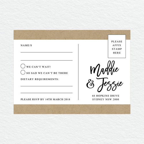 Kraft Party RSVP Card