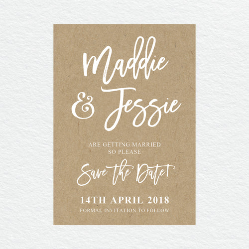 Kraft Party Save the Date Card