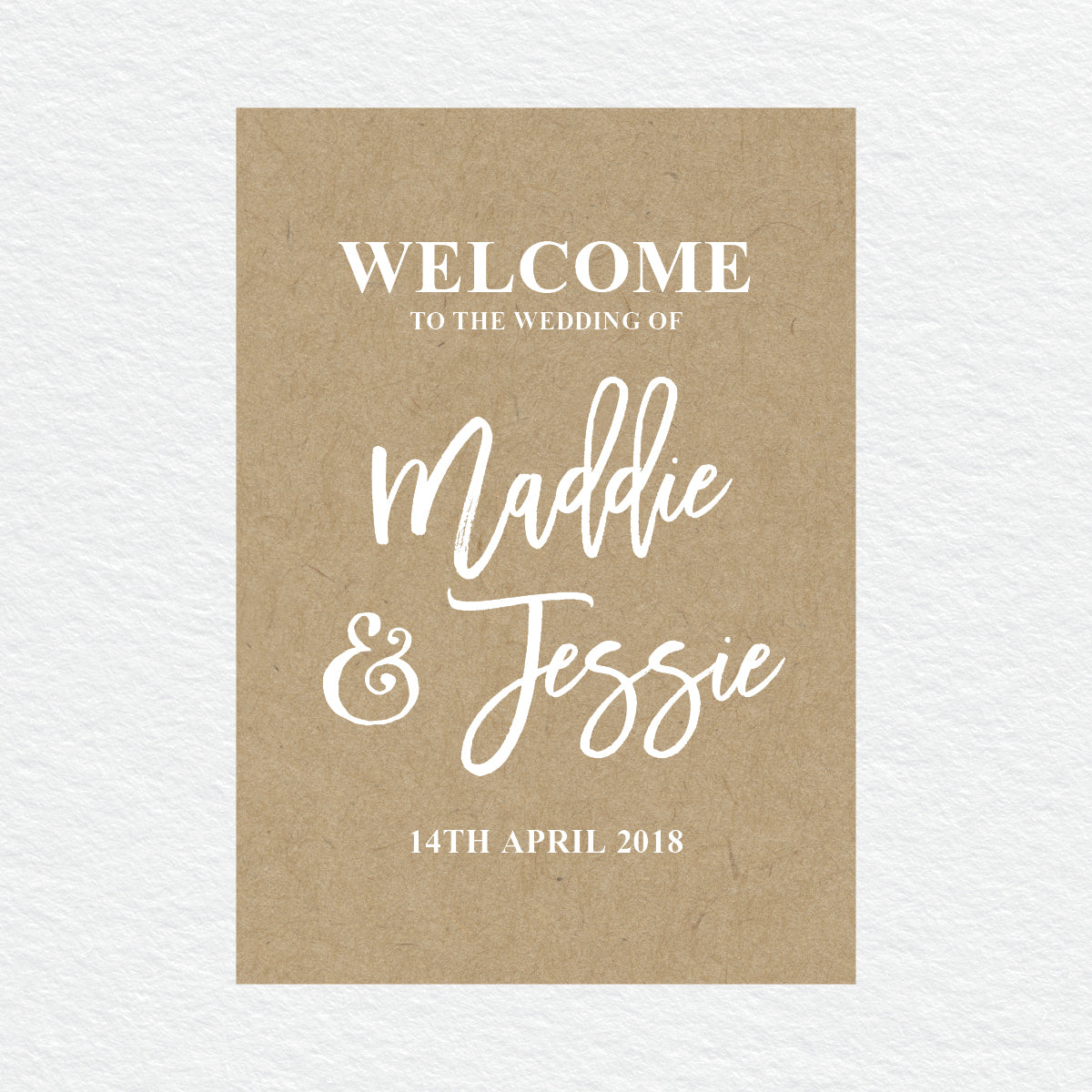 Kraft Party Welcome Sign