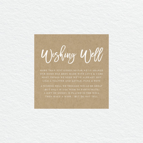 Kraft Party Wishing Well Card