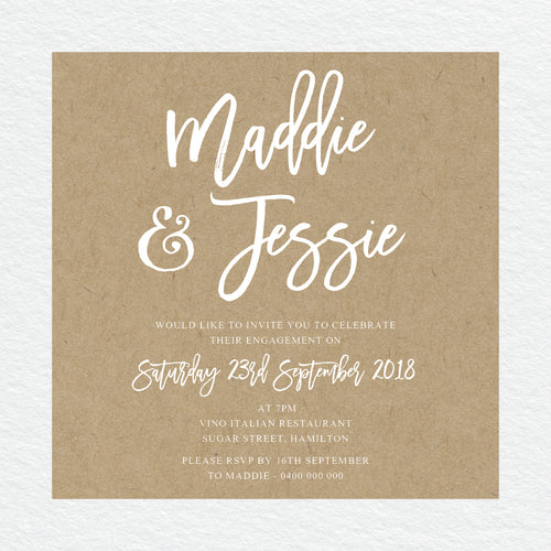 Kraft Party Engagement Invitation