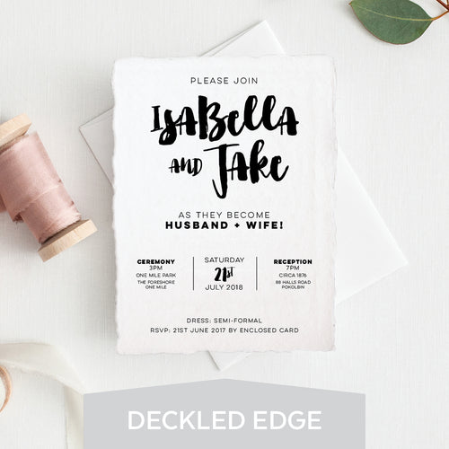 Love Struck Deckled Edge Invitation