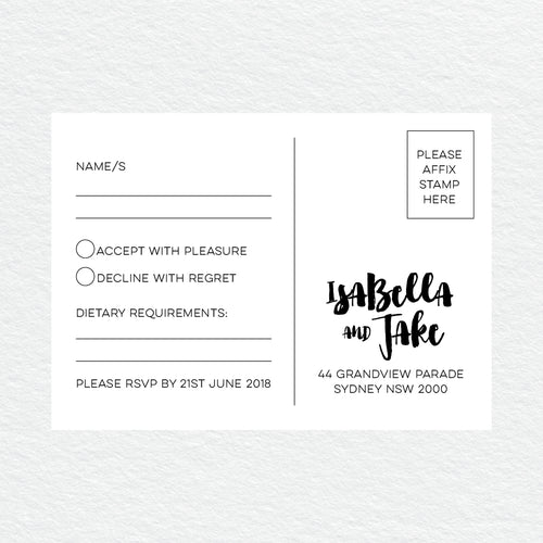 Love Struck RSVP Card