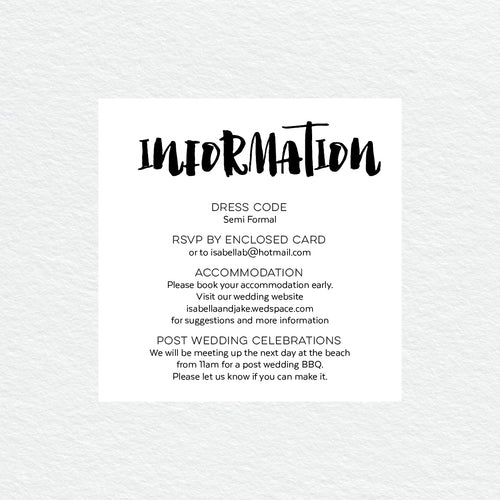 Love Struck Information/Map Card