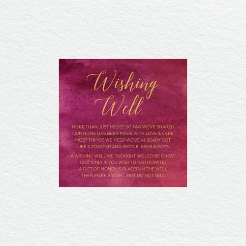 Marsala Wishing Well Card