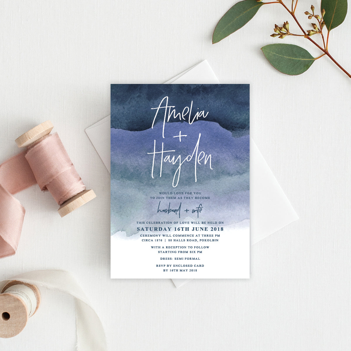 Midnight Rectangle Invitation