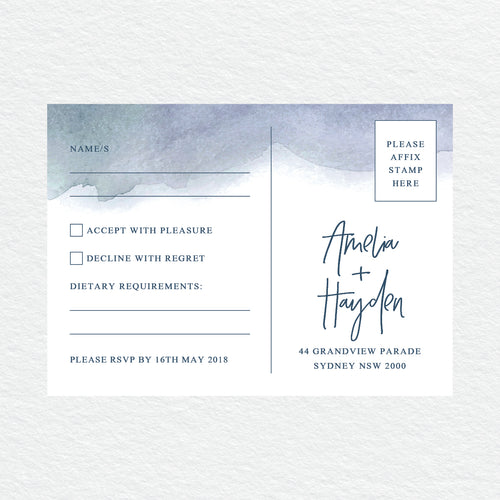 Midnight RSVP Card