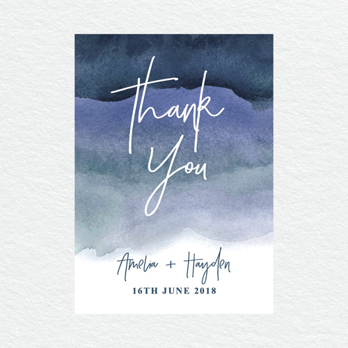 Midnight Thankyou Cards