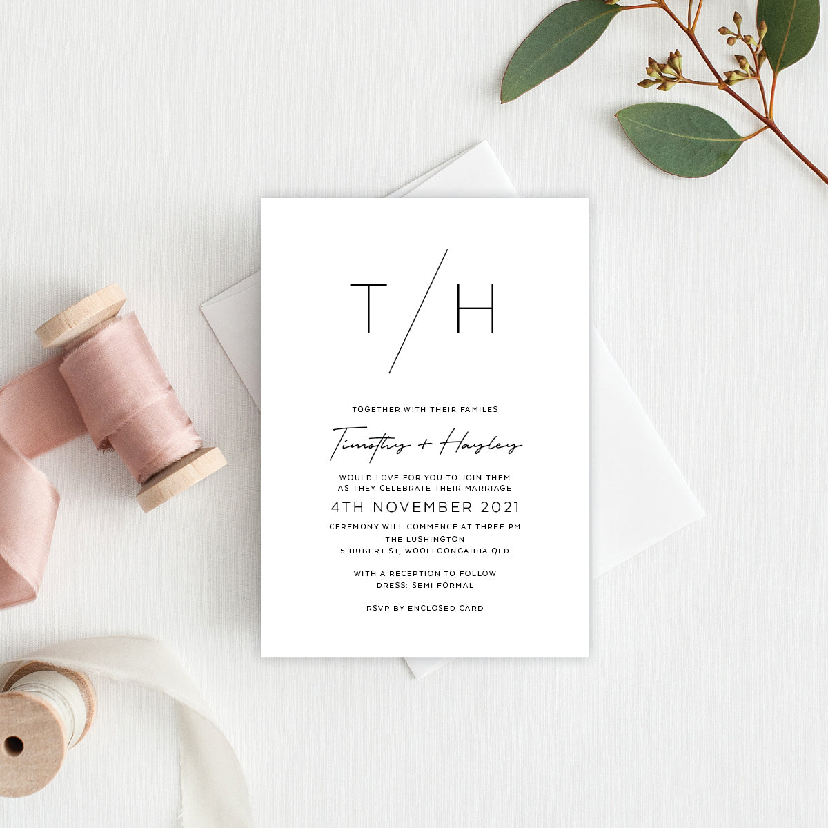 Modern Tilt Rectangle Invitation