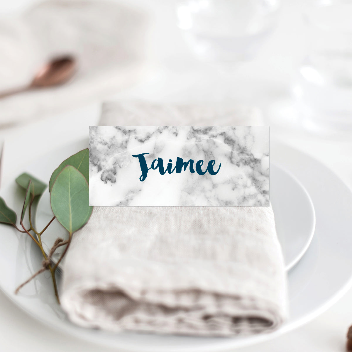 Modern Marble Placecard