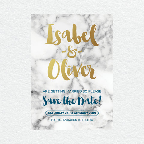 Midnight Save the Date Card