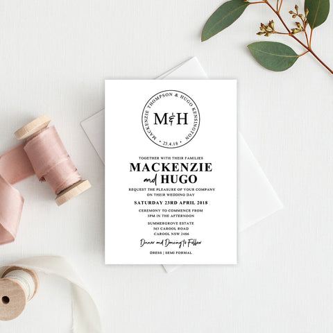 Serendipity Rectangle Invitation