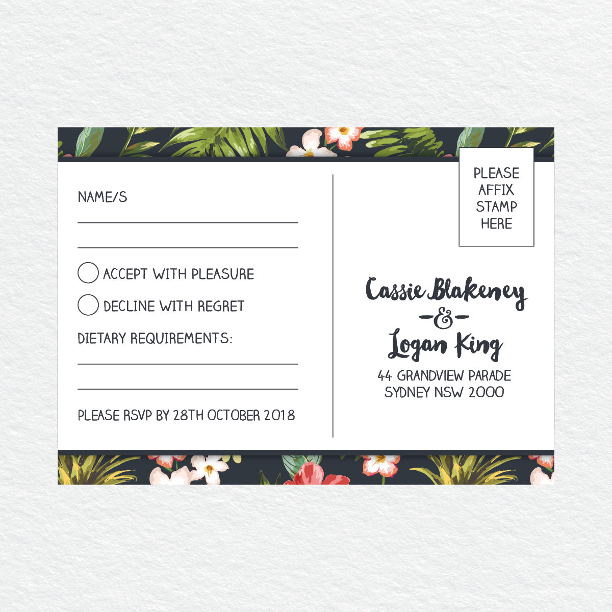 Pineapple Punch RSVP Card