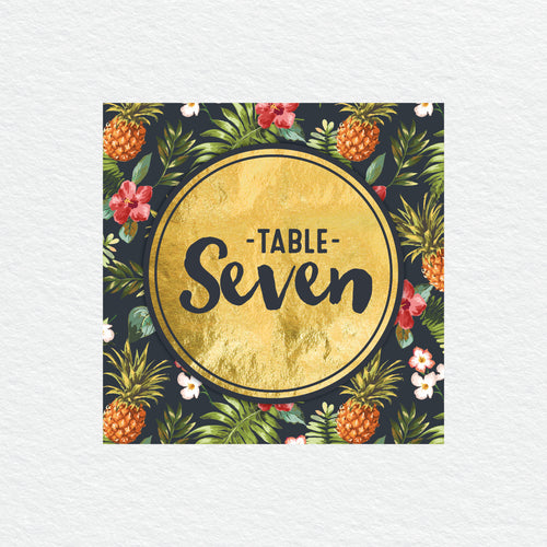 Pineapple Punch Table Numbers