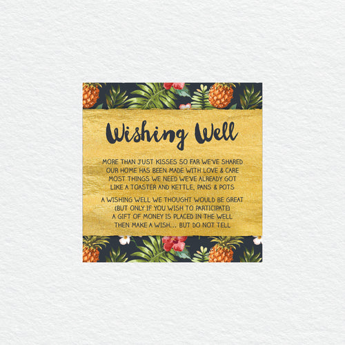 Pineapple Punch Wishing Well Card
