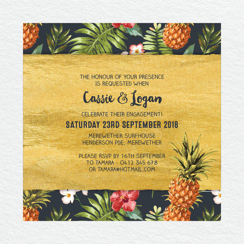 Pineapple Punch Engagement Invitation