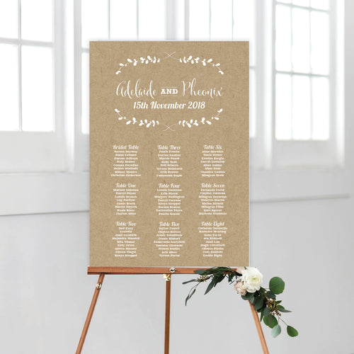 Rustic Laurels Seating Chart