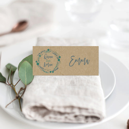 Rustic Wreath Placecard