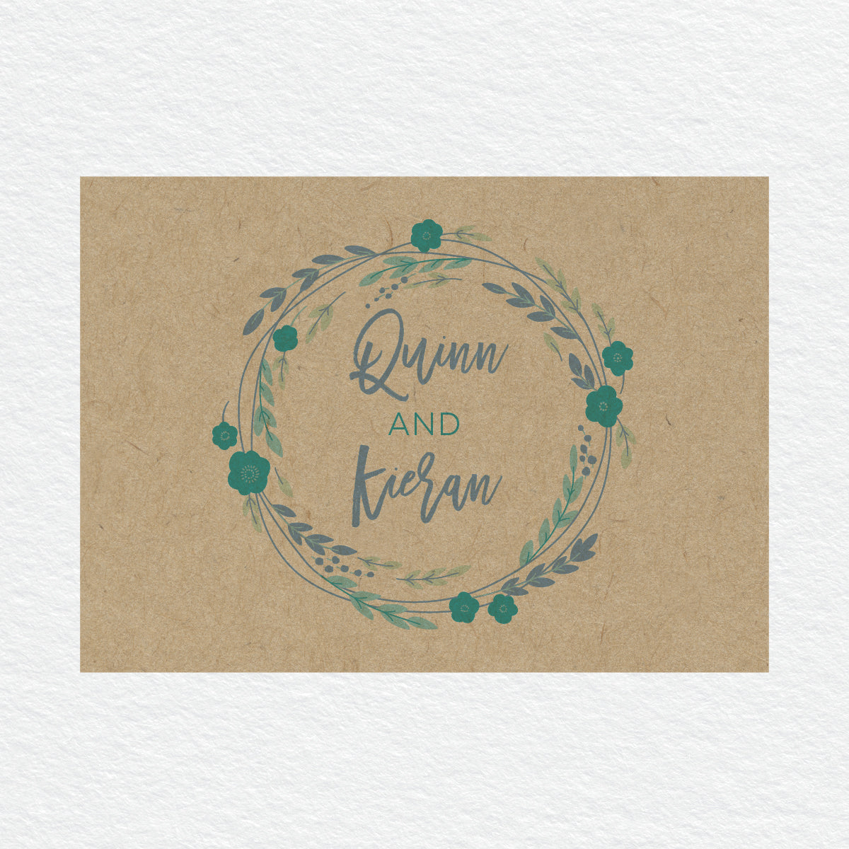 Rustic Wreath RSVP Card