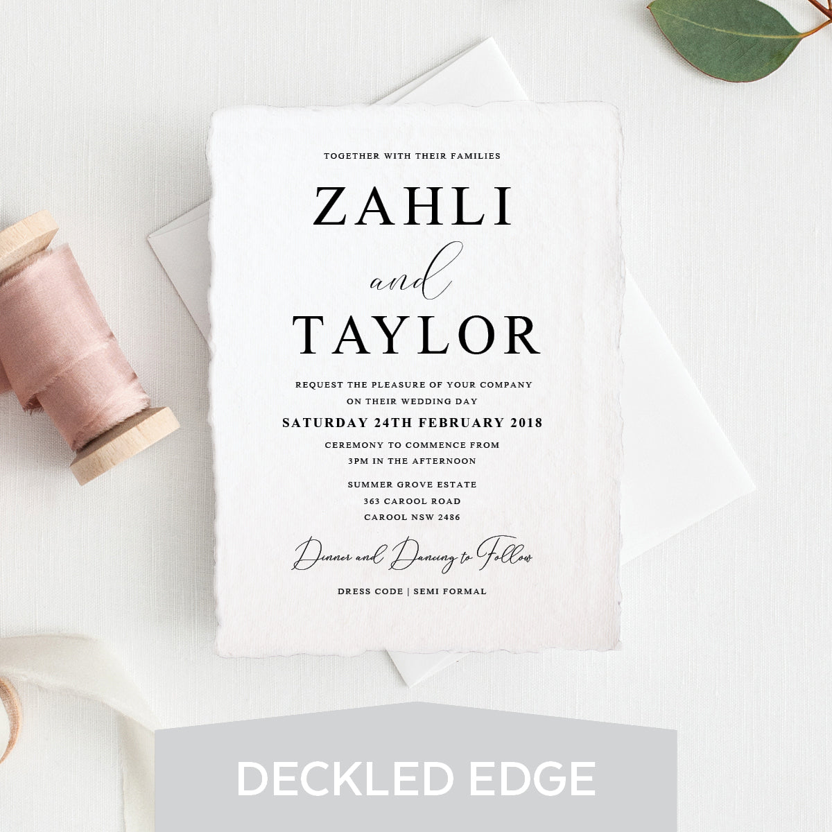 Serendipity Deckled Edge Invitation
