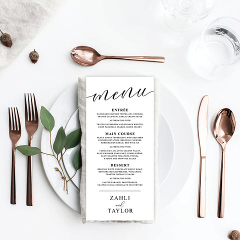 Autumn Vibes Menu