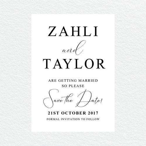Serendipity Save the Date Card