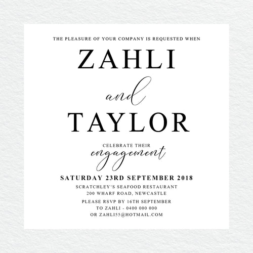 Serendipity Engagement Invitation