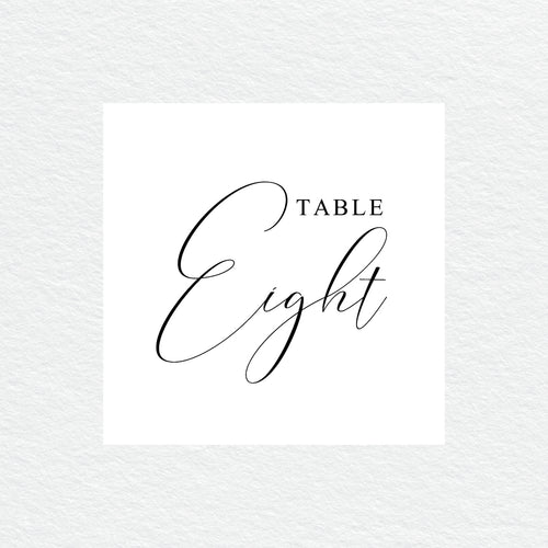Serendipity Table Numbers