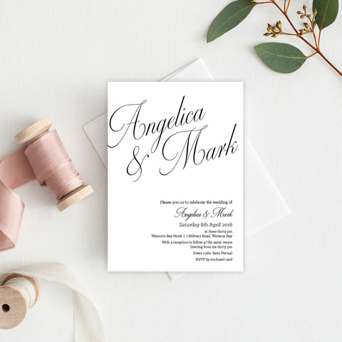 Marsala Rectangle Invitation