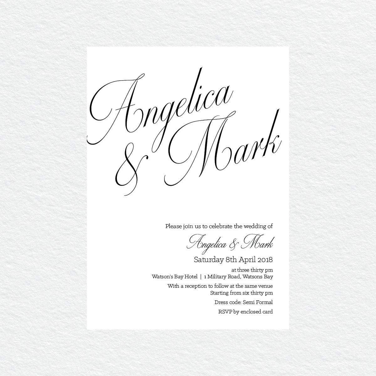 So Sweet Rectangle Invitation