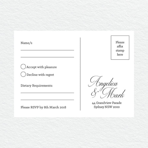 So Sweet RSVP Card
