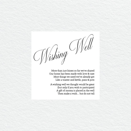 So Sweet Wishing Well Card