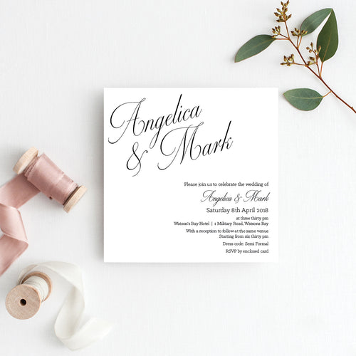 So Sweet Square Invitation