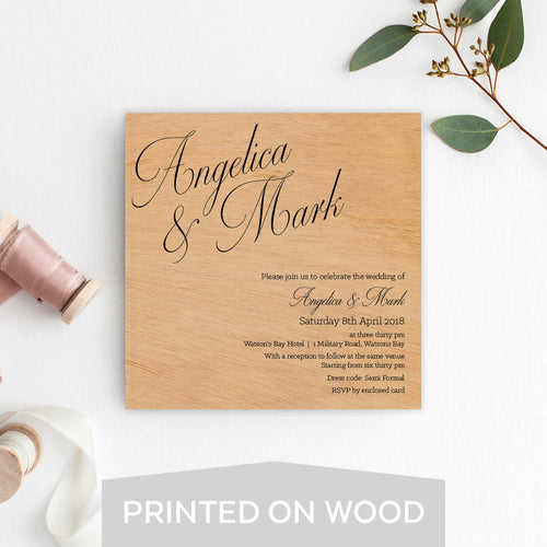 So Sweet Wood Invitation