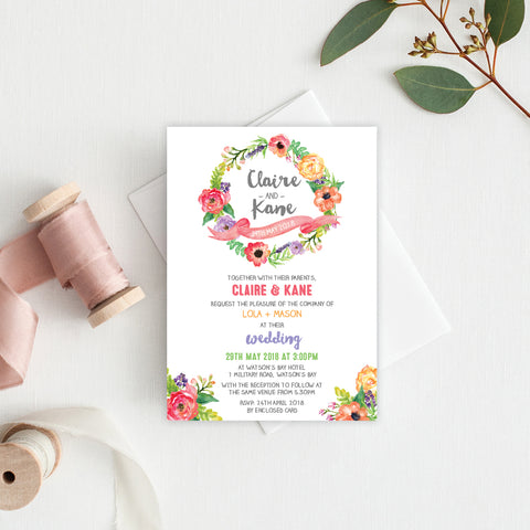 Marsala Square Invitation
