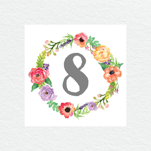 Spring Sweetness Table Numbers