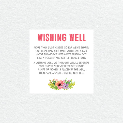 Spring Sweetness Wishing Well Card