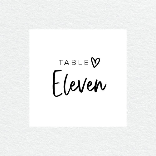 Sweet Heart Table Numbers