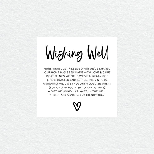 Sweet Heart Wishing Well Card