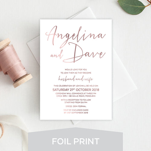 Sweet Type Foil Invitation