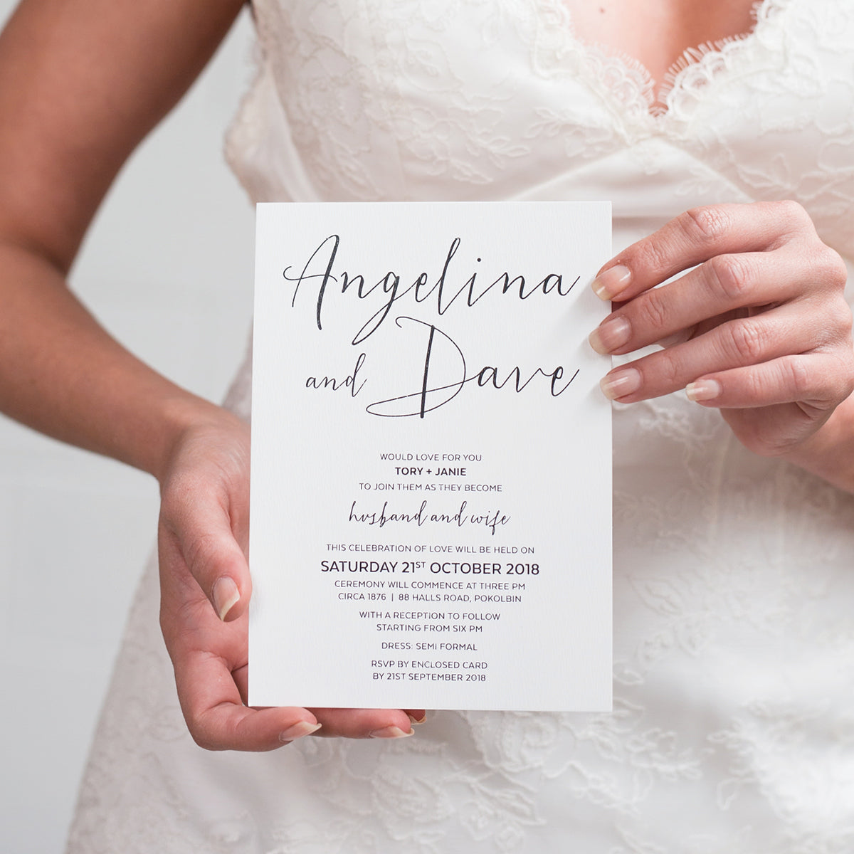Sweet Type Rectangle Invitation